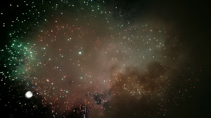 Fourth of July, fireworks, galaxy, explosion, sky, night, Burlington, Vermont