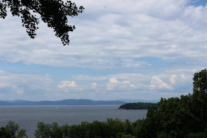 Backyard View, Lake Champlain, Adirondack Mountains, Burlington, Vermont, beautiful views, sunset, beach, beach life, summertime, summer