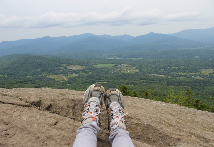 Stowe Pinnacle Trail, Stowe, Vermont, hiking, mountain hiking, mountains, The Adirondack Mountains, Adirondack, New York, Green Mountain State, outdoors, summer activities, summer hikes, Lake Champlain
