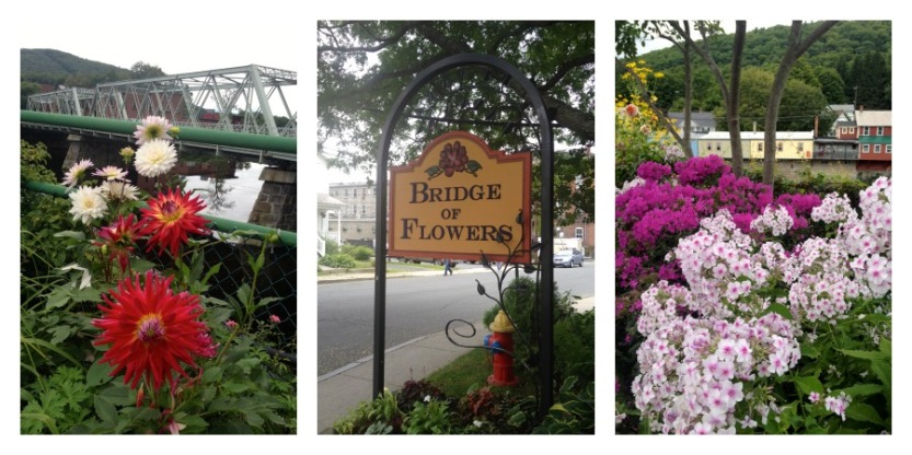 Bridge of Flowers, Shelburne Falls, Massachusetts, local attractions, outdoor parks, pedestrian getaways, gardens, gardening, flowers, New England