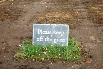 Keep off the grass Arizona Phoenix desert