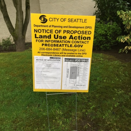 Seattle Proposed Land Use Action