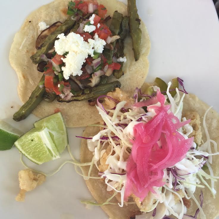 Taqueria in Roosevelt's Row, Phoenix, Cactus taco, Chicken taco